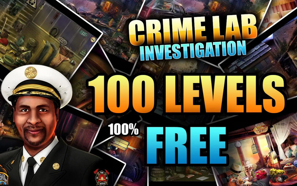 100 Levels Hidden Objects Free Criminal Lab Game Cube Studio